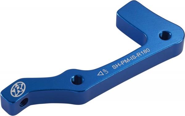 Reverse - Adaptateur de frein PM Shimano Arrière 180mm pour Cadre IS bleu clair