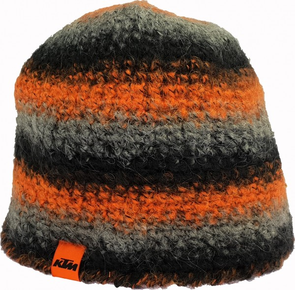 KTM - Bonnet crocheté noir/gris/orange