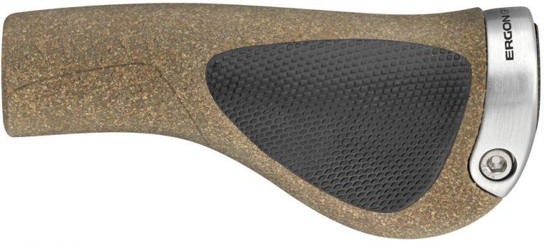 Ergon - Poignées GP1 Biokork marron gris