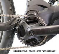 Praxis Works - Plateau VTT eRing Steel 104 mm - Technologie Wawe sens de montage
