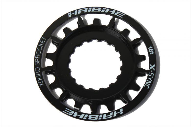 Haibike - Pignon 18 dents XDuro/Bosch Performance CX, noir