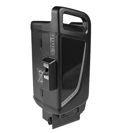 Flyer - Batterie 15 Ah / 18 Ah pour moteur Panasonic Next Generation 36V, dès 2014 15Ah noir
