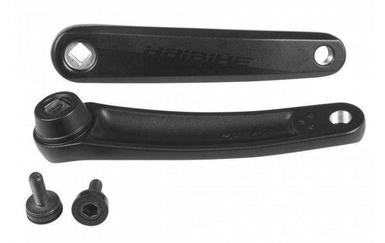 Miranda - Manivelles axe carré pour Haibike SDuro FatSix Yamaha 2017, 170 mm