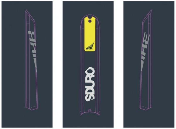 Haibike SDURO - XDURO - Autocollants pour Skidplate Bosch Powertube 2018 citron
