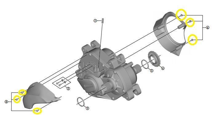 Shimano - Lot de 6 vis pour la fixation des carter moteur SM-DUE80, SM-DUE70 et SM-DUE61