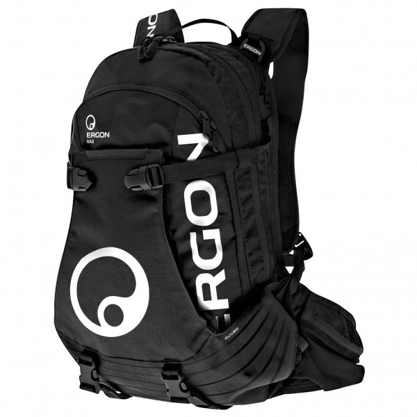 Ergon - Sac à dos BA3 E Protect 15+2 litres avec compartiment batterie noir