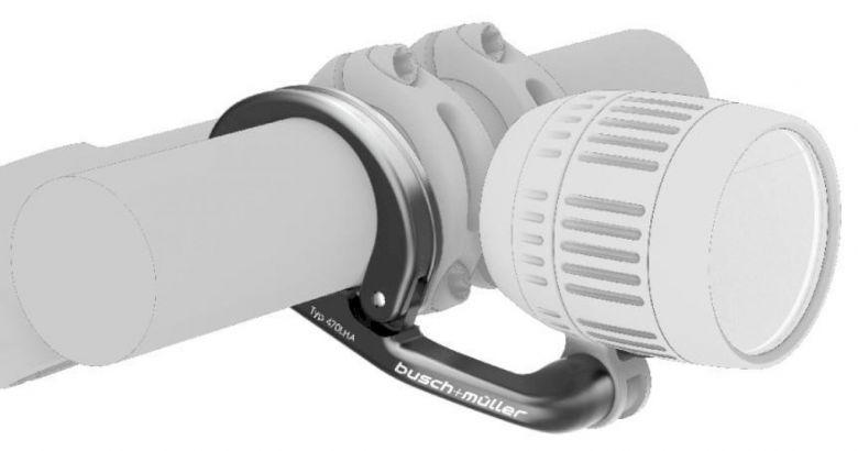 Busch & Müller - Support d'éclairage pour guidon - aluminium Détail 1