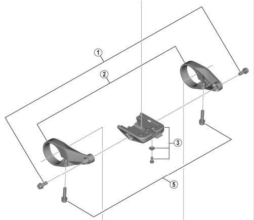 Shimano - Support pour écran SC-6100 (kit complet)