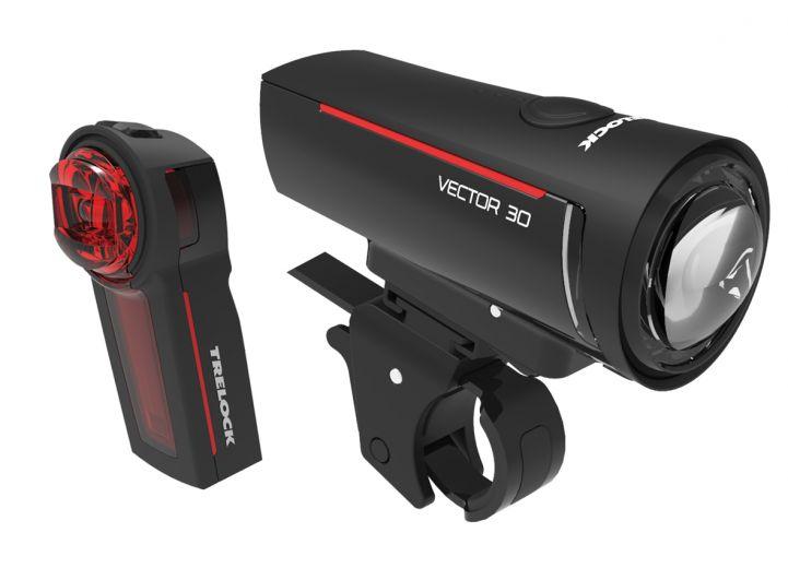 Trelock - Set d'éclairages avant/ arrière LS 300 I-GO Vector & LS 740 I-GO