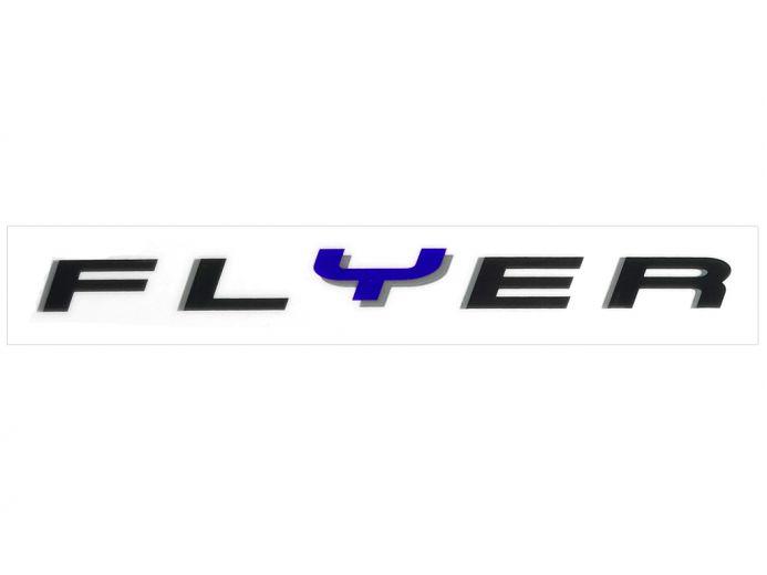 Flyer - Autocollant pour cadre - bleu