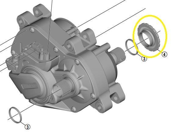 Shimano - Bague de verrouillage pour plateau sur moteur Steps E6100   E7000   E8000