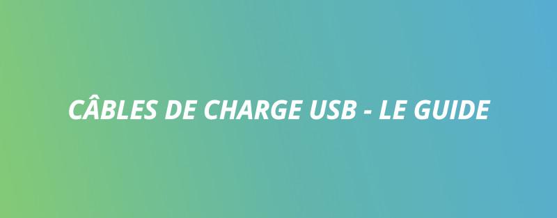 Câble de charge USB - Le Guide - par eBike24
